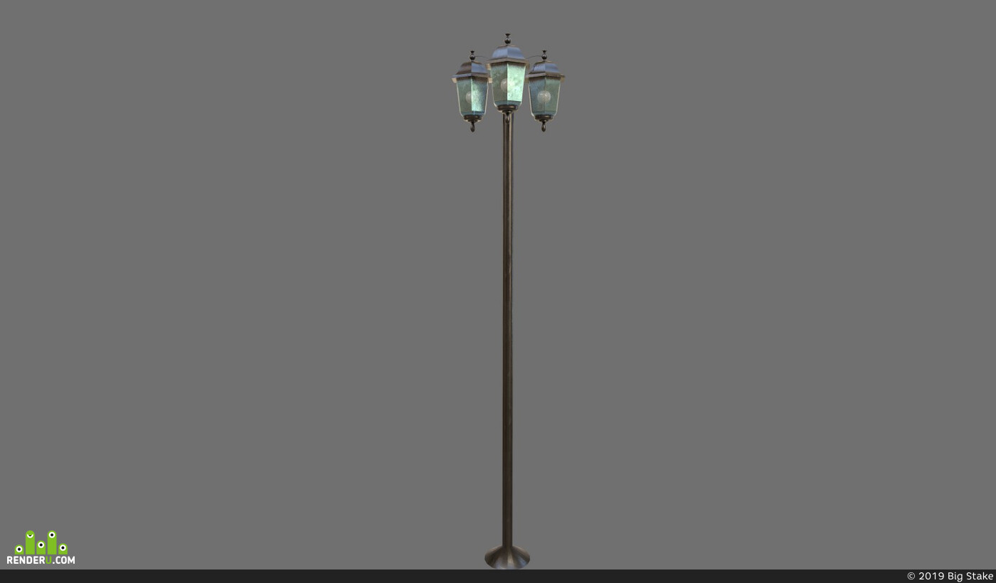 Vray, streetlamp, UnrealEngine, substancepainter, Unity, light, environment