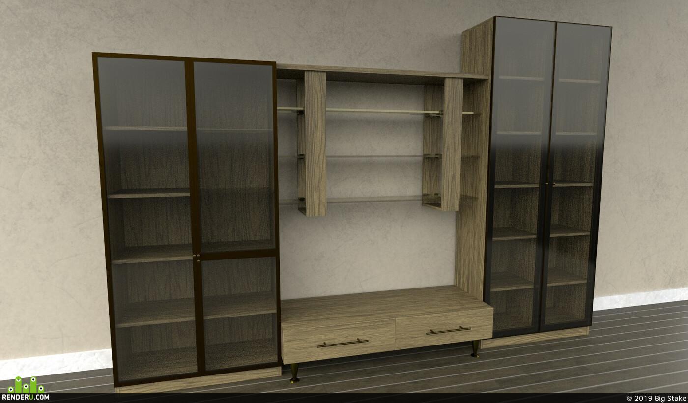 tv, stand, unreal, furniture, metal, unrealengine4, Mebel, tvstand, substancepainter, substance