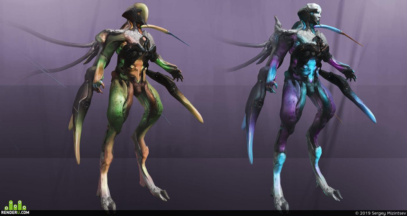 creatures, concept, desing, zbrushsculpt, 3d coat