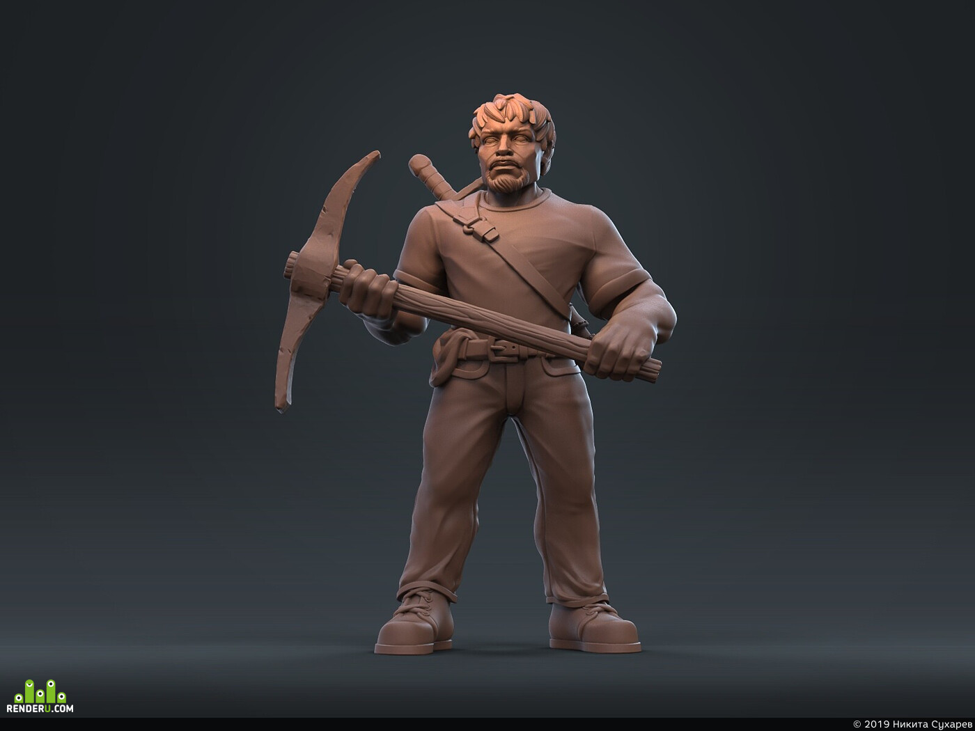 ZBrush, Character, 3dprintring, Minecraft