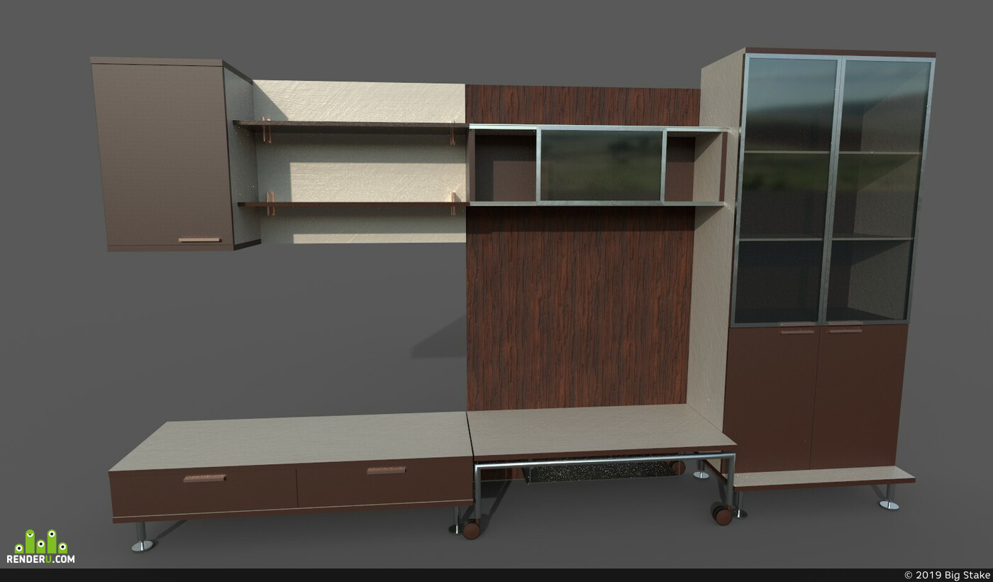 Digital 3D, Environments, Props, architectural visualization, Unity, design, unreal, tv, tvstand