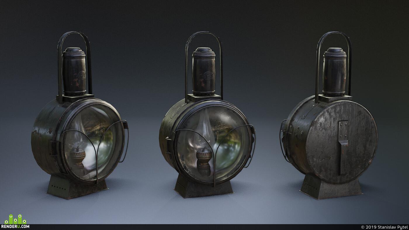 железная дорога, керосиновая лампа, Освещение, Railroad, lantern