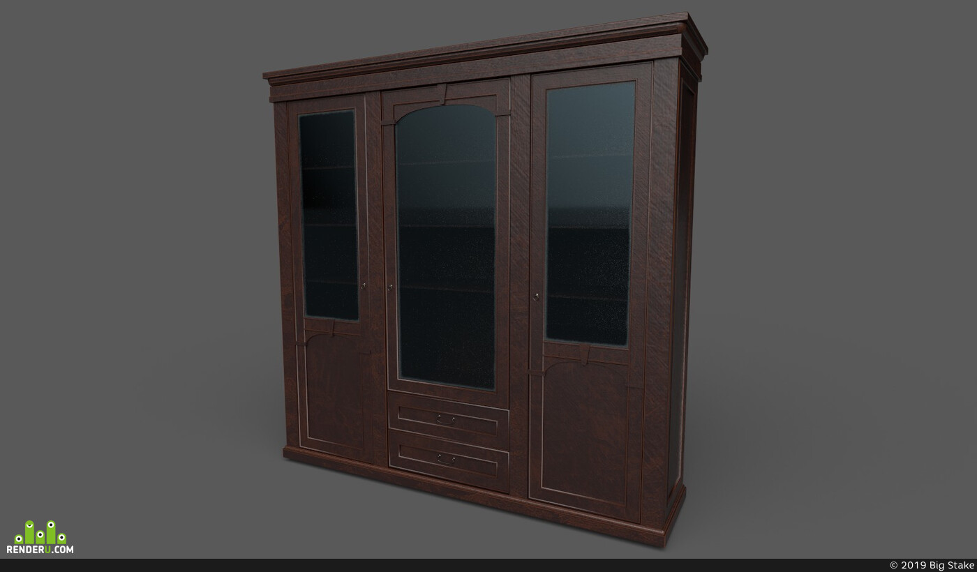 shelf, Vray, unreal, classic, obj, furniture, Old, unrealengine4, wooden-box, substancepainter