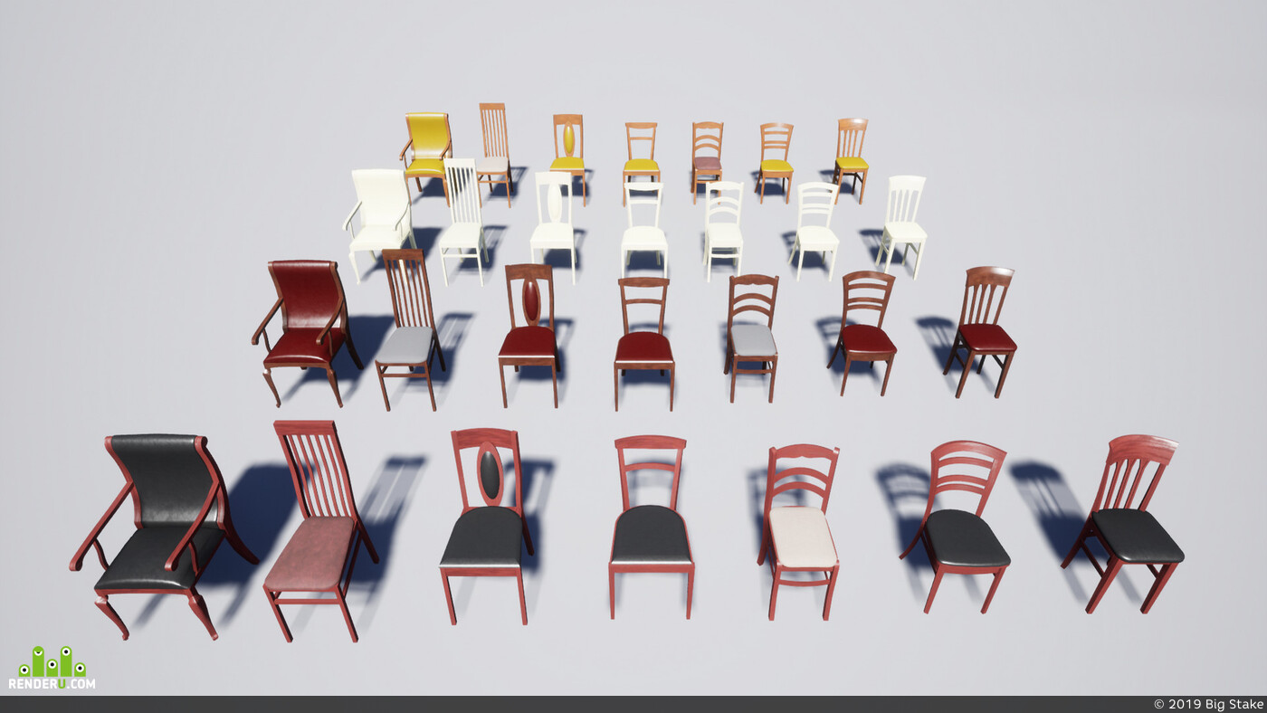 Lamp, Environments, Marketplace, ue4, furniture, Props, desk, chairs, bedroom, Unreal Engine