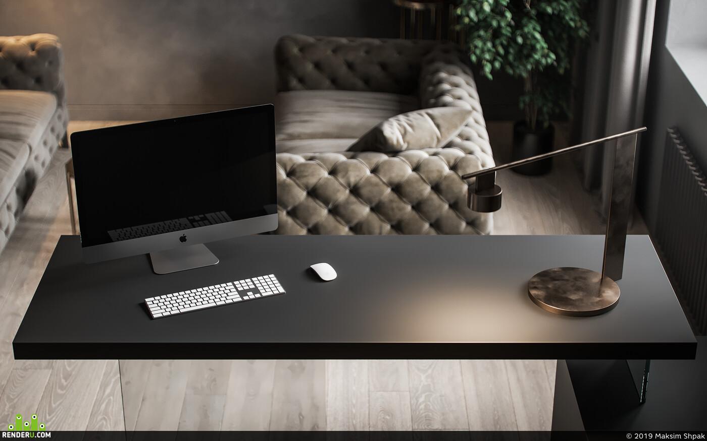 private, interior design, visualization, Corona Renderer, Interior visualization
