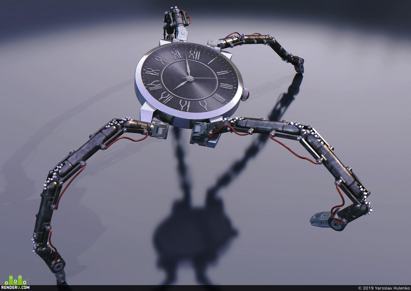 time, smart watch, technology, robot