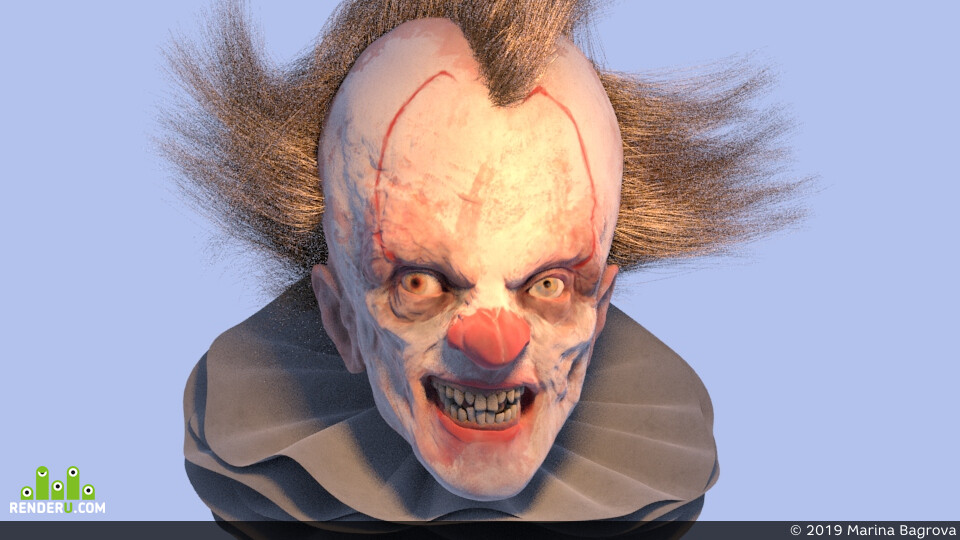 pennywise, Character, design_character, clown