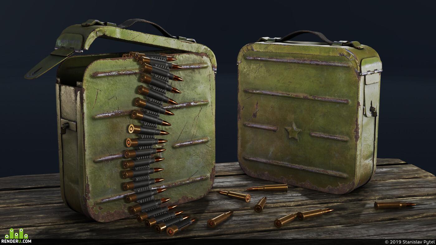 армия, army, оружие, weapon, Ящик, ammobox