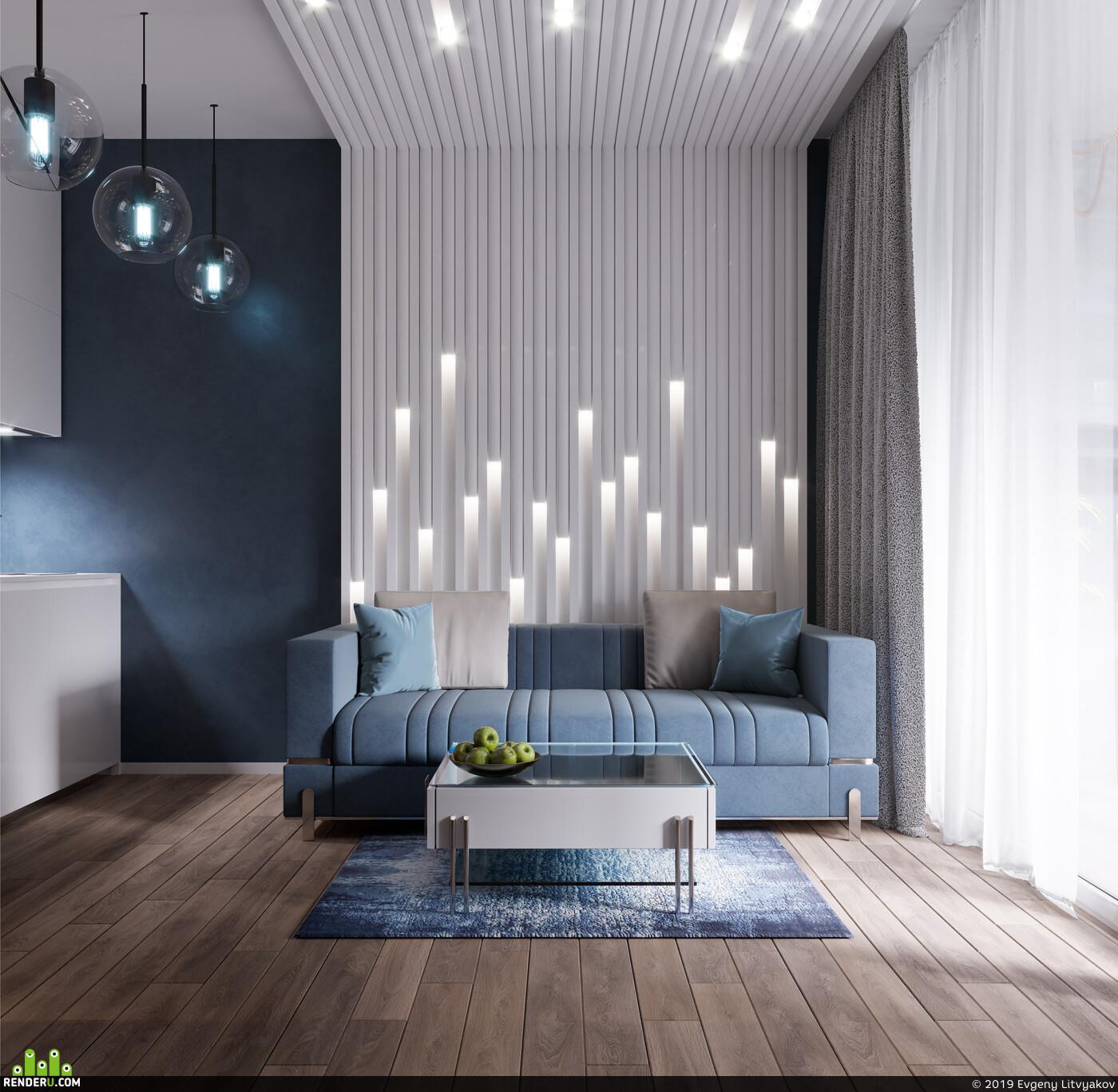 3D Studio Max, 3ds Max, 3D архитектура, интерьер, дизайн интерьера, interior design