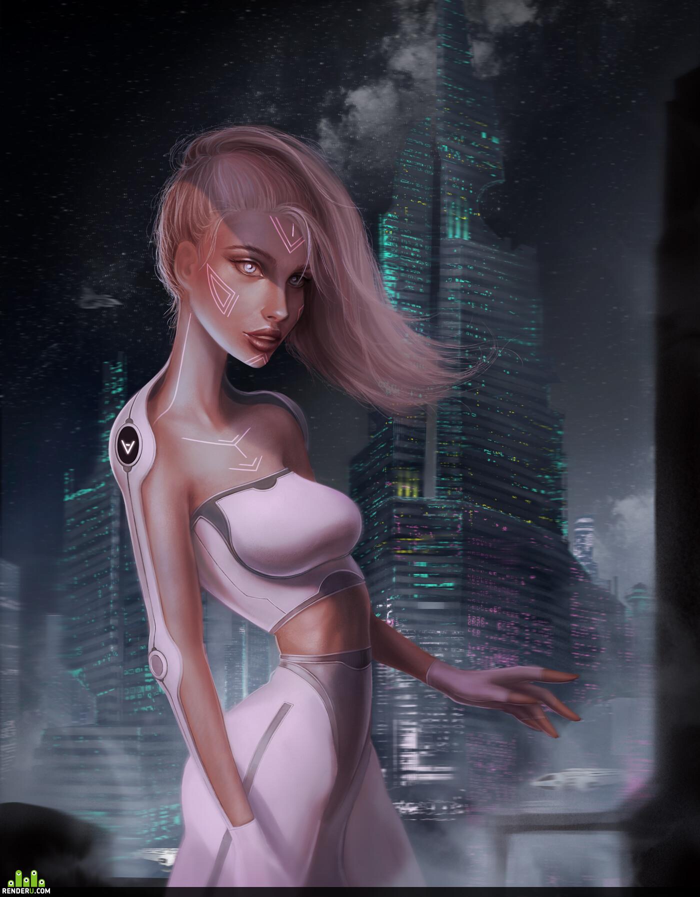 2dart, DIgital painting, concept, concept_art, Character, sci-fi