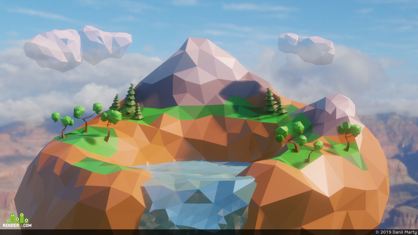 low-poly, lowpoly, low poly