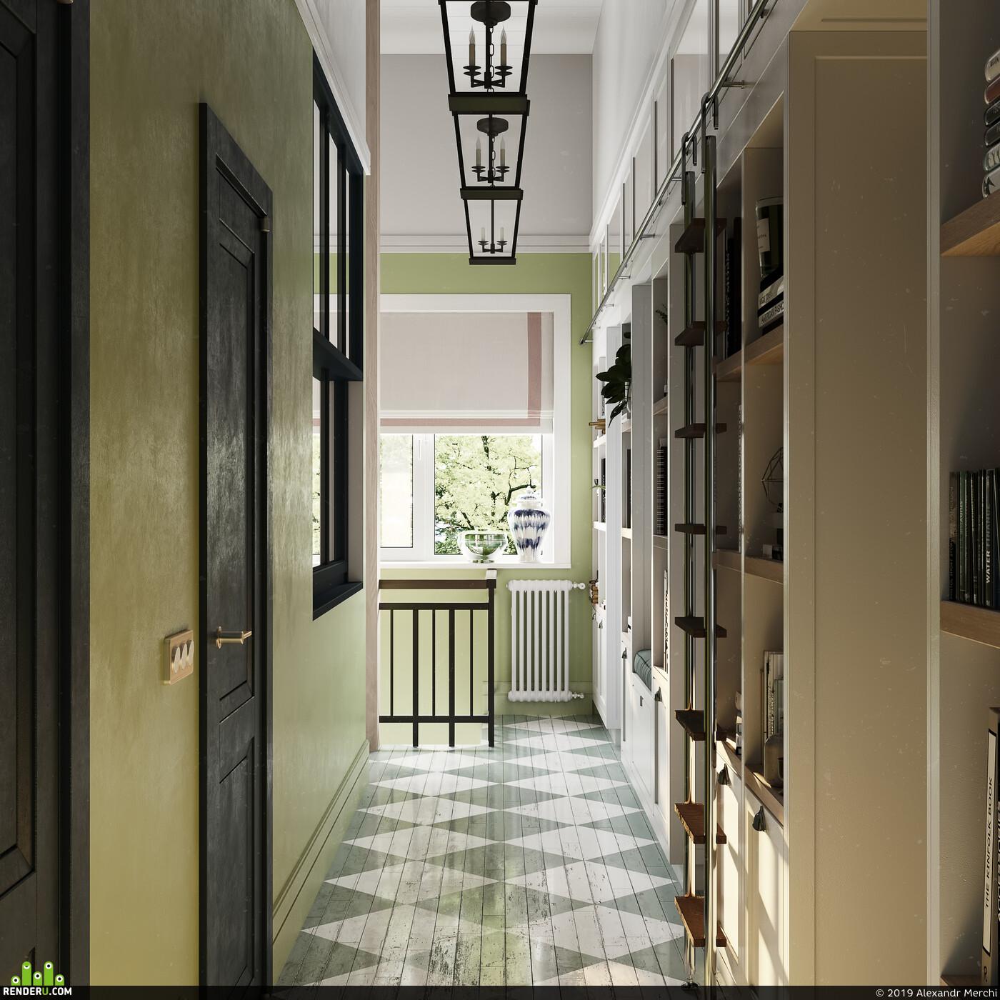дизайн интерьера, кухня-гостиная, Спальня, Интерьер Детская, дом, частный дом