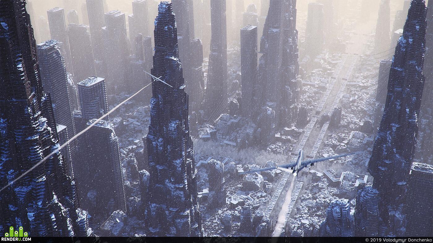 3ds Max, корона, научная фантастика, sci fi, СРЕДА, Экстерьер, cgi
