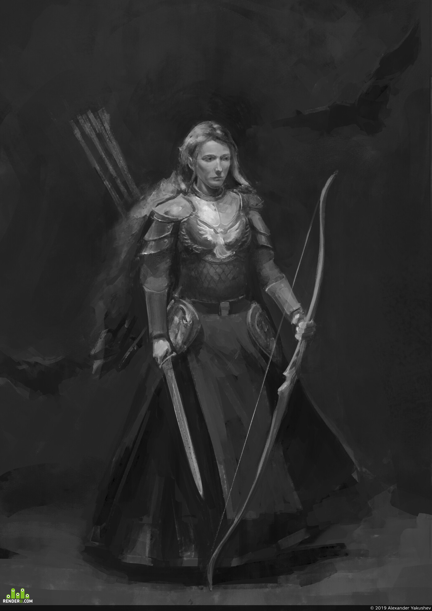 armor, elf, Archer, єльф, Лучник