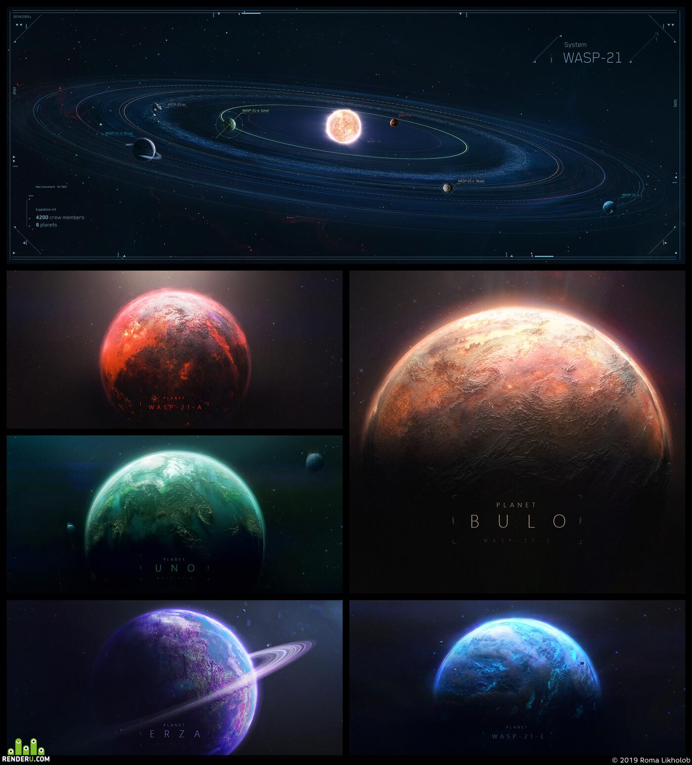 Концепт Арт, концепт, астероид, Космос