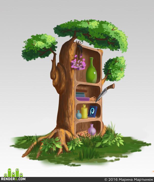 шкаф, целитель, 2dart, лес, материалы