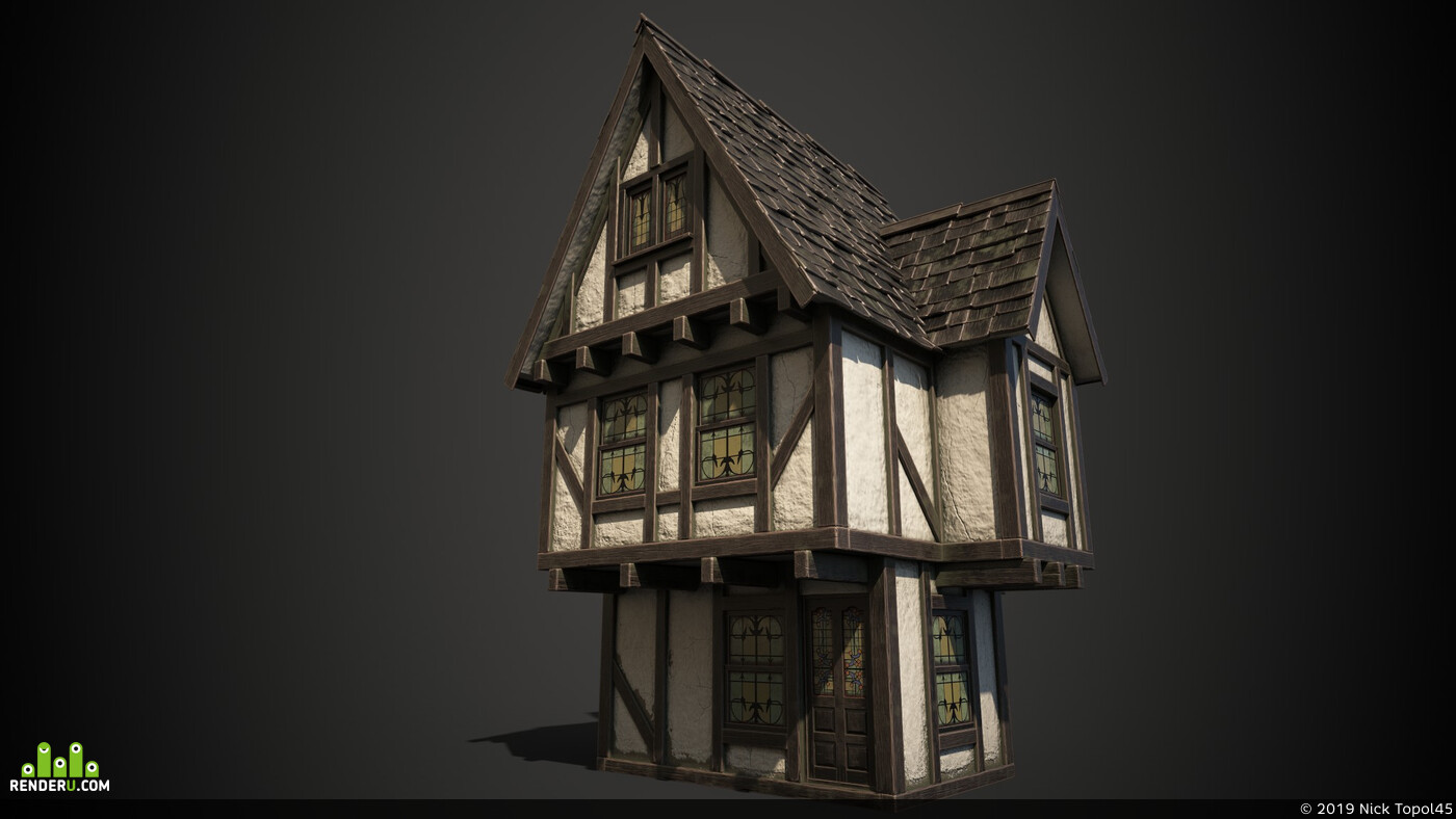 Fantasy, house, building, medival