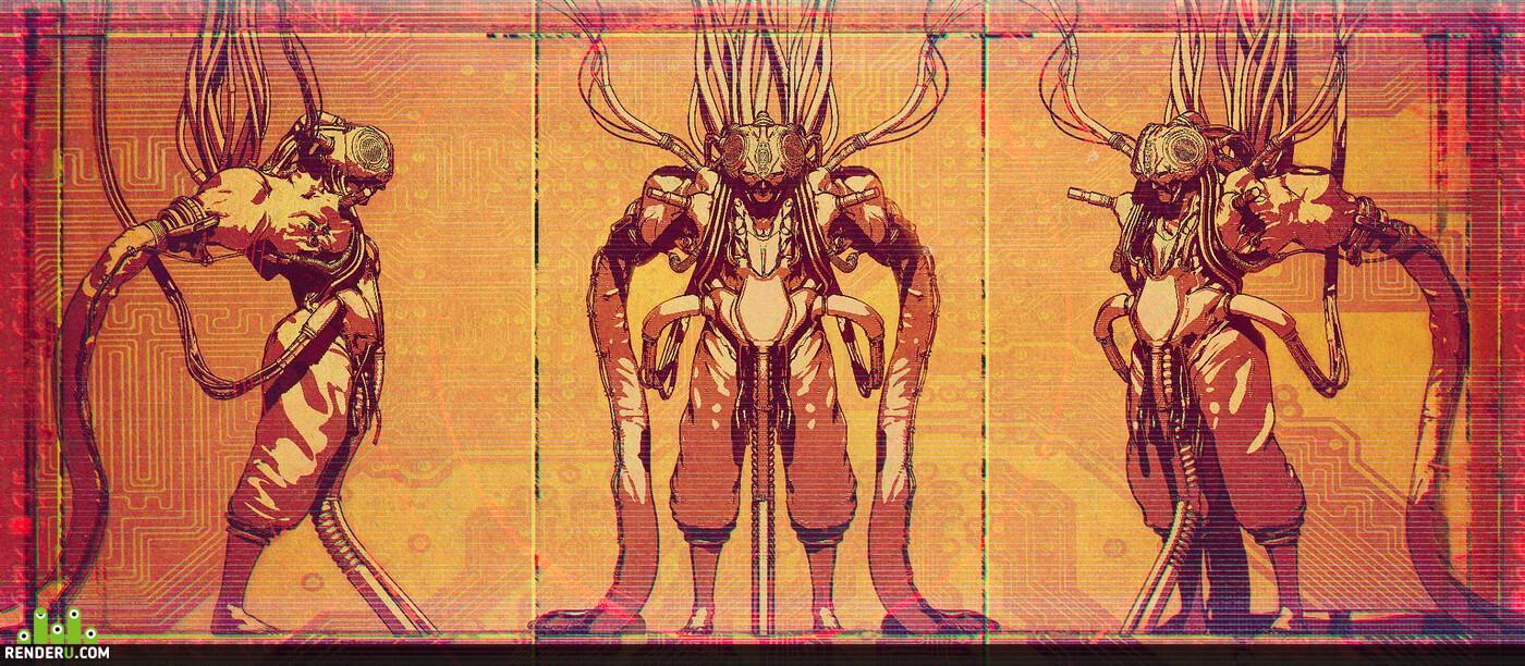 cyberpank, Prototype, sci fi, cyborg