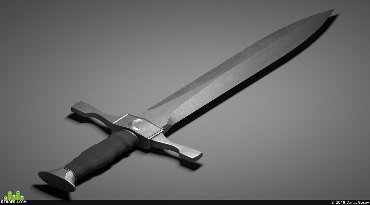 оружие, средневековое, клинок