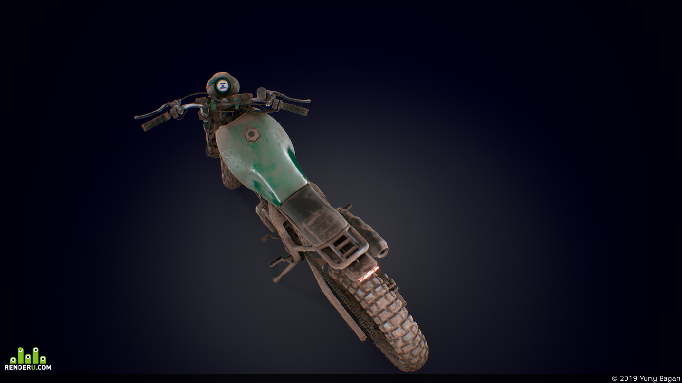 honda nx650, ue4, substance painter, bike