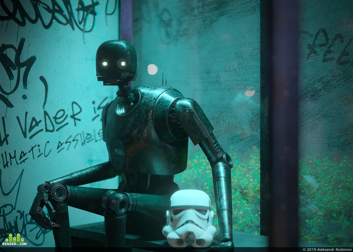 star wars, K2so, droids