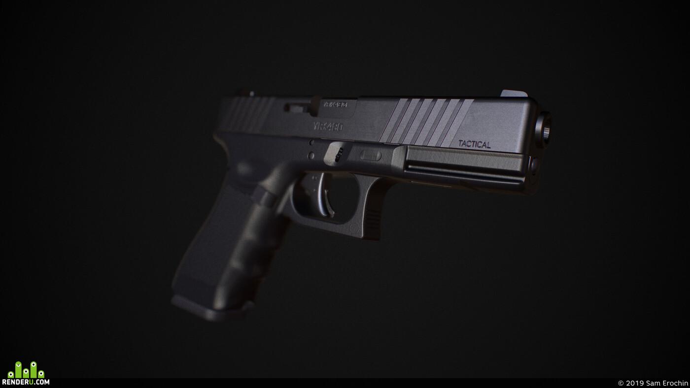 глок, пистолет, геррмания, автралия, г17, глок17, полная, деталировка, оружие