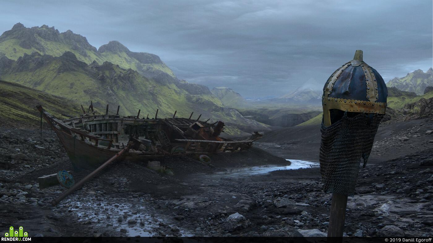 viking, Matte Painting