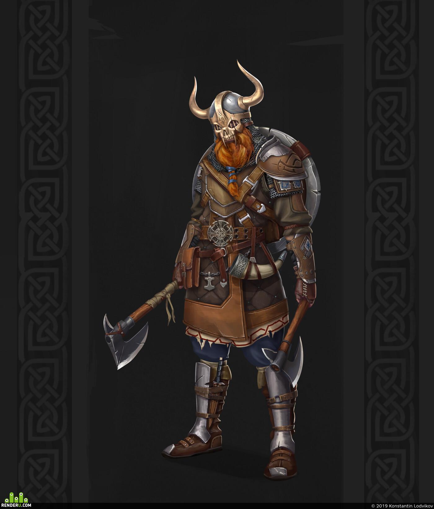 viking, warrior, Character