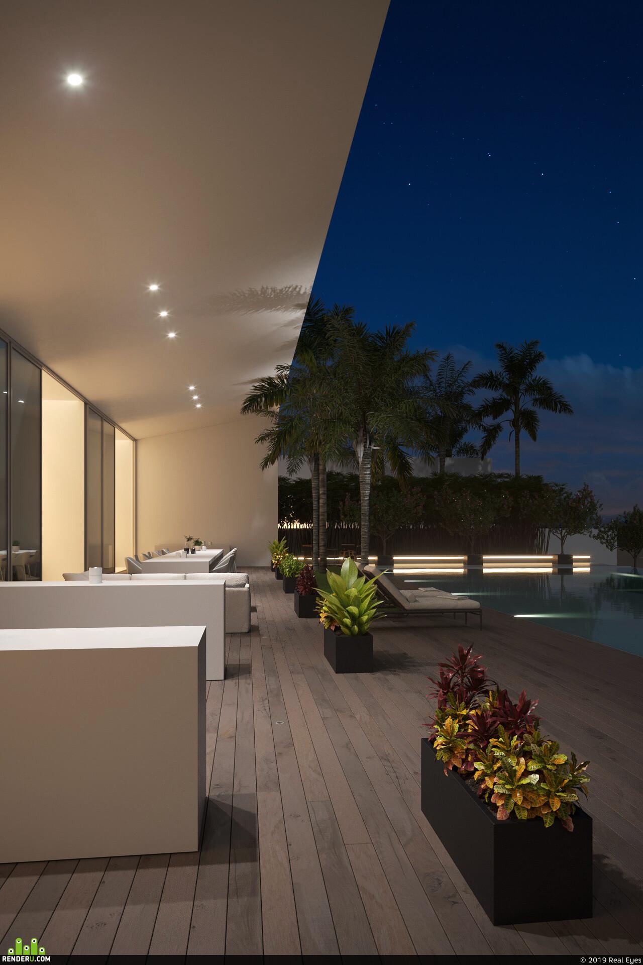 villa, coronarender, adobephotoshop, visualization, archviz, render, 3Dsmax, 3drendering, closeup