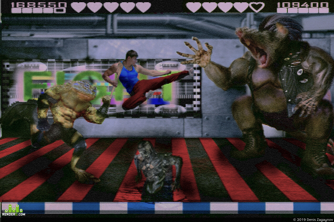 game, gameart, battletoads and double dragon