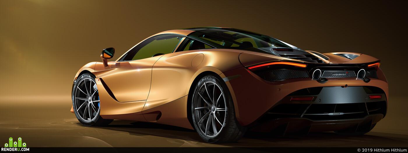 McLaren 720S coronarenderer Hithlum 3ds Max Photoshop