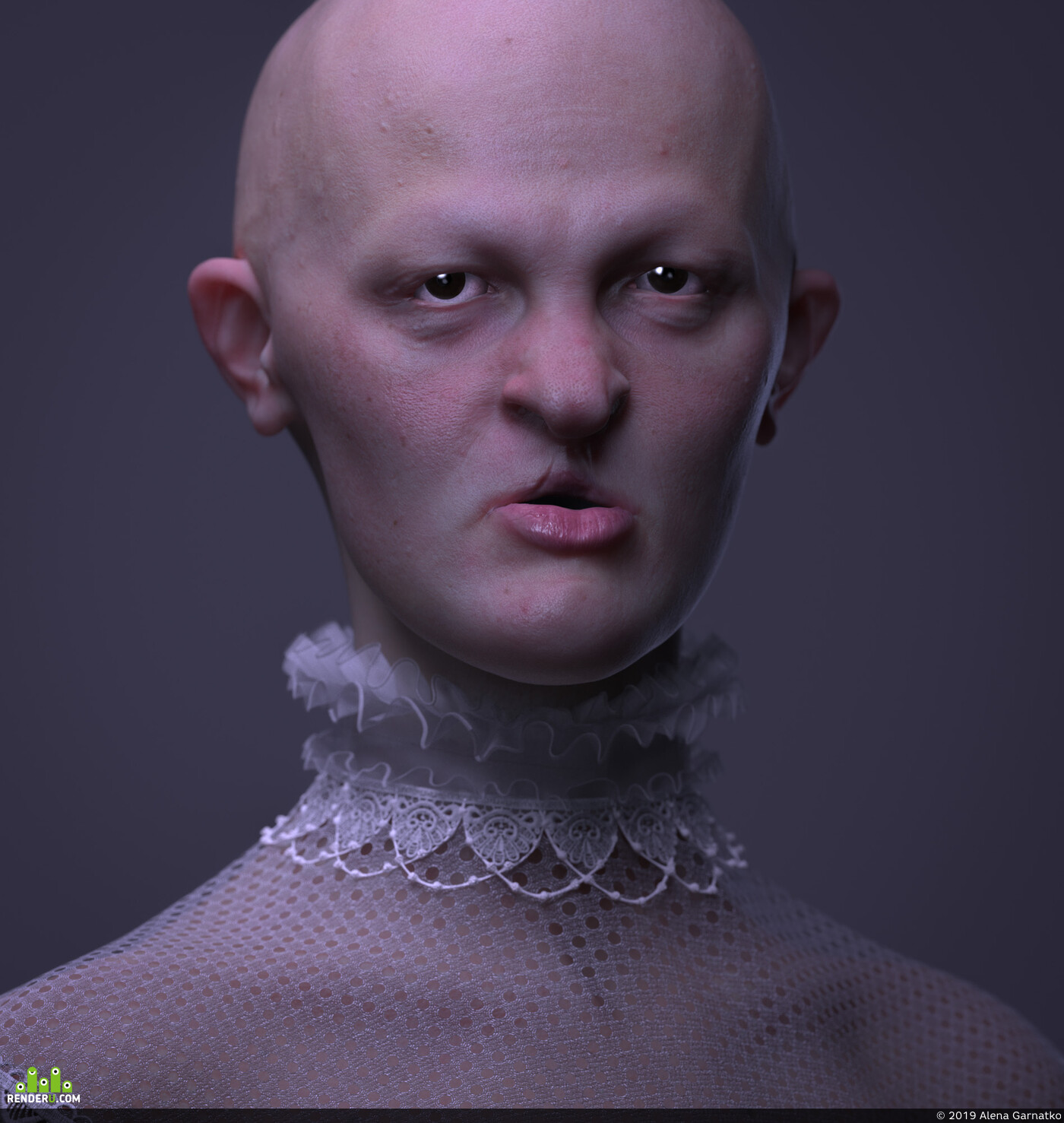 3d, 3d portait, Melanie Gaydos, сg portrait, render skin