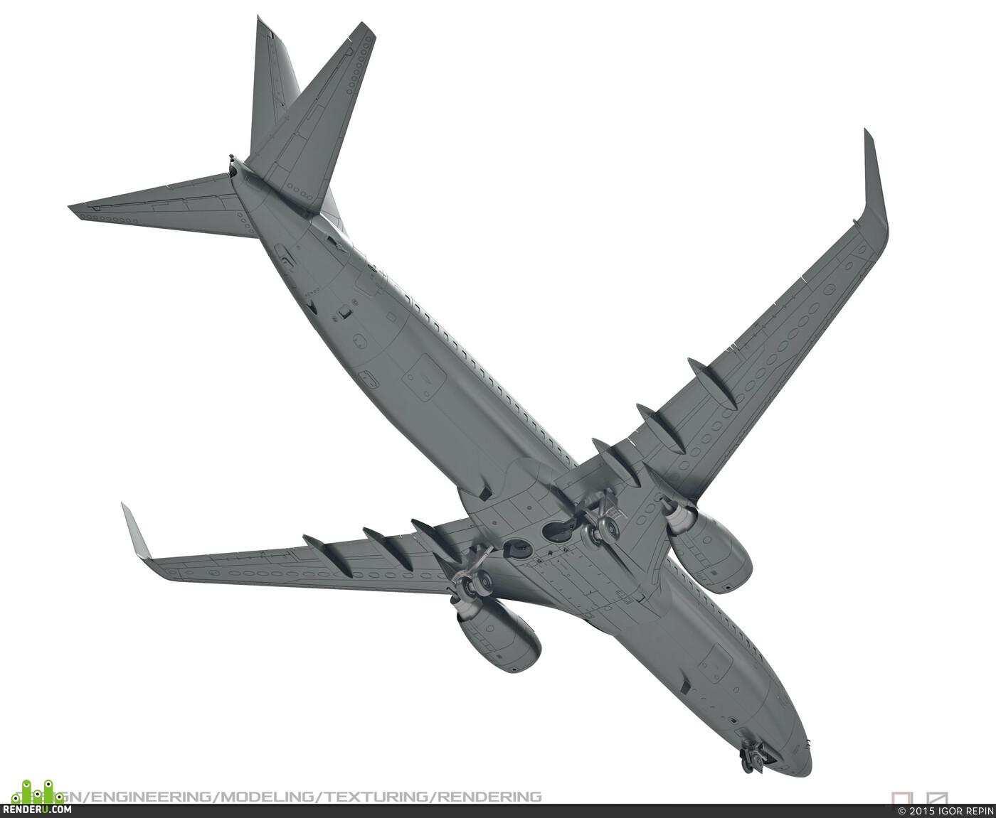 Модель самолёта B-737