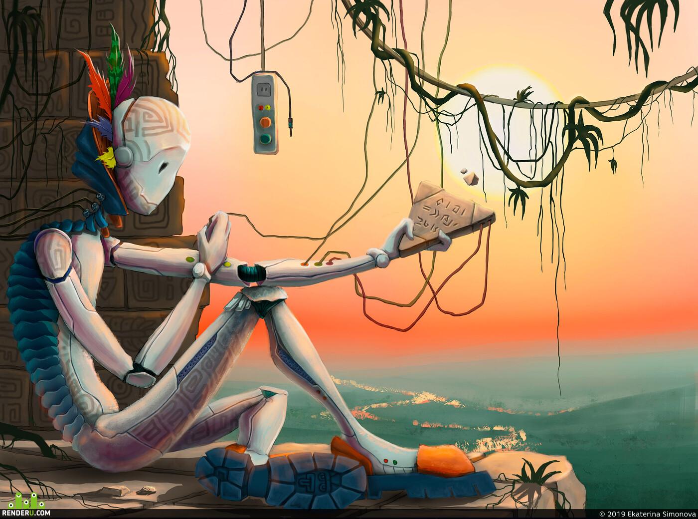 Digital 2D, Characters, Fantasy, Creatures, fanart, Creatures, иллюстрация, рисование, персоонаж