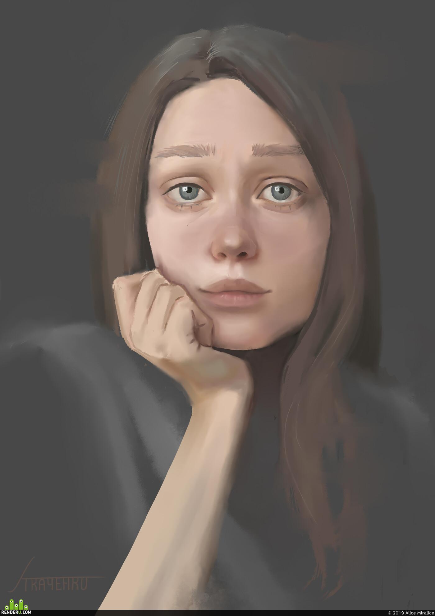 автопортрет, Computer graphics from scratch, Photoshop, self portrait, digital art