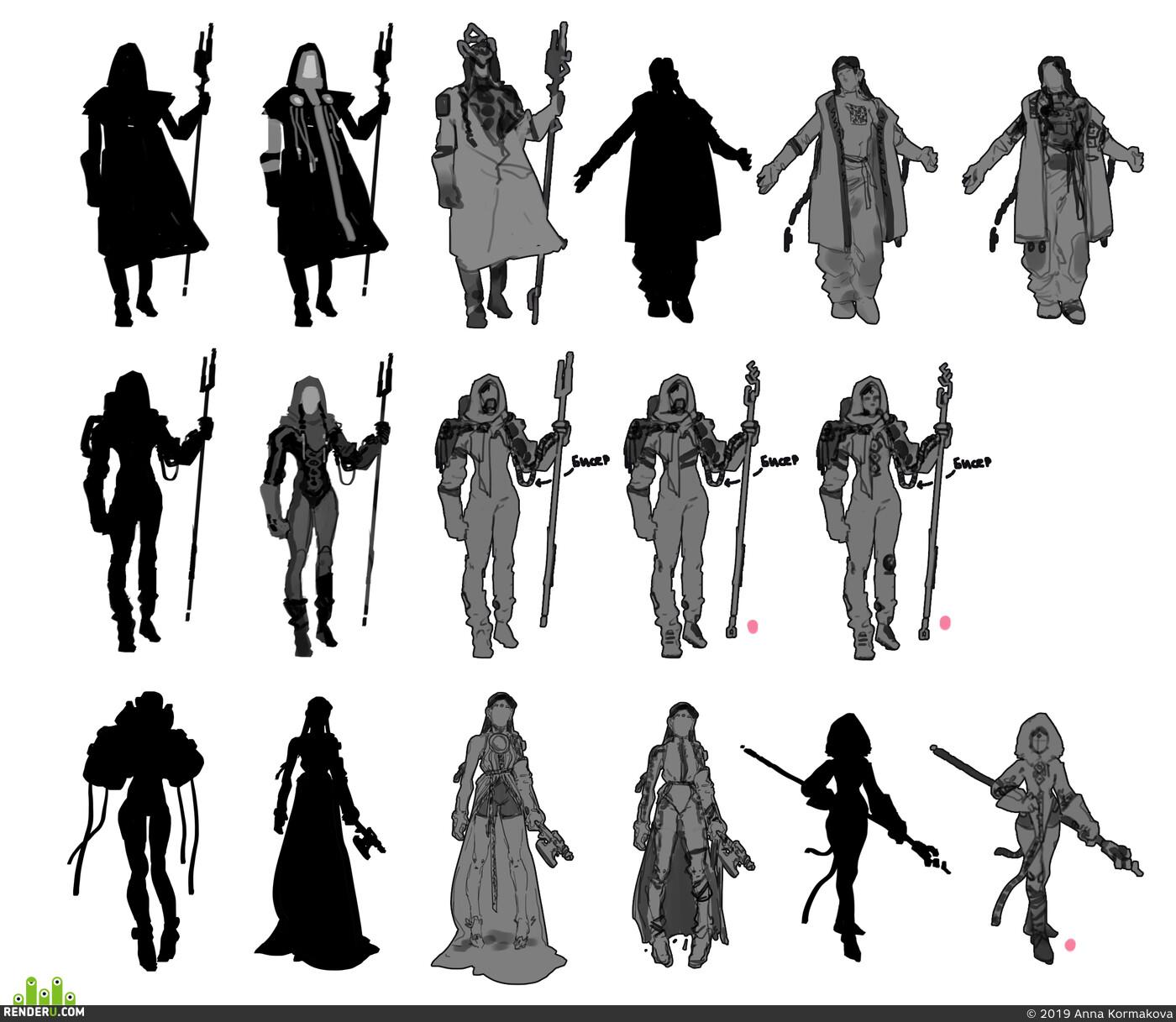 2D, gameart, Концепт-арт, Концепт Арт, концепт персонажа, киберпанк, ArtilleryFengCyberpunk, sci fi