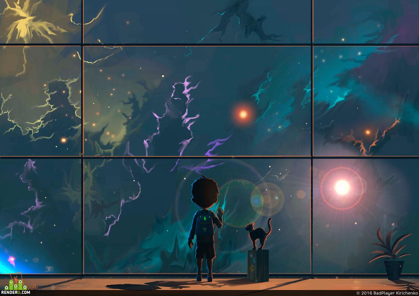 Космос, мальчик, звзеды