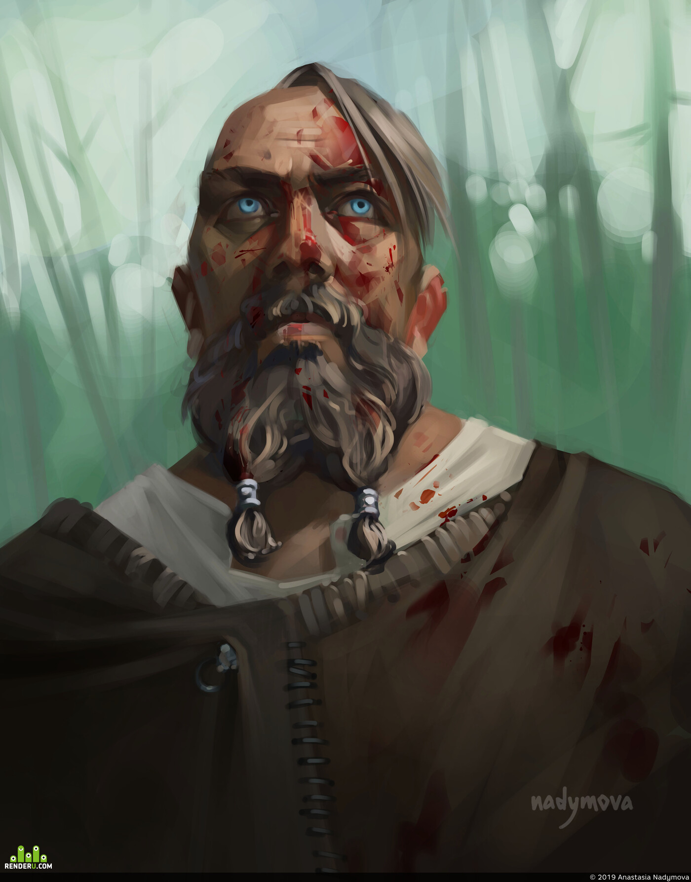 Photoshop, Adobe Photoshop, illustration, Character, 2D, Digital 2D, 2dart, 2Ddigital, viking