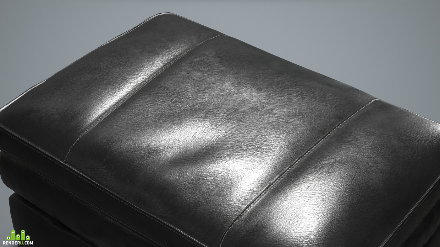 Leather, Pouf