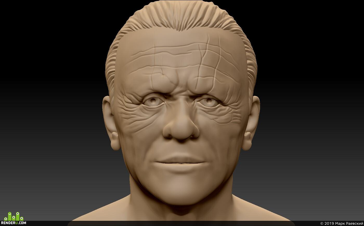 голова, Актёр, 3d модель