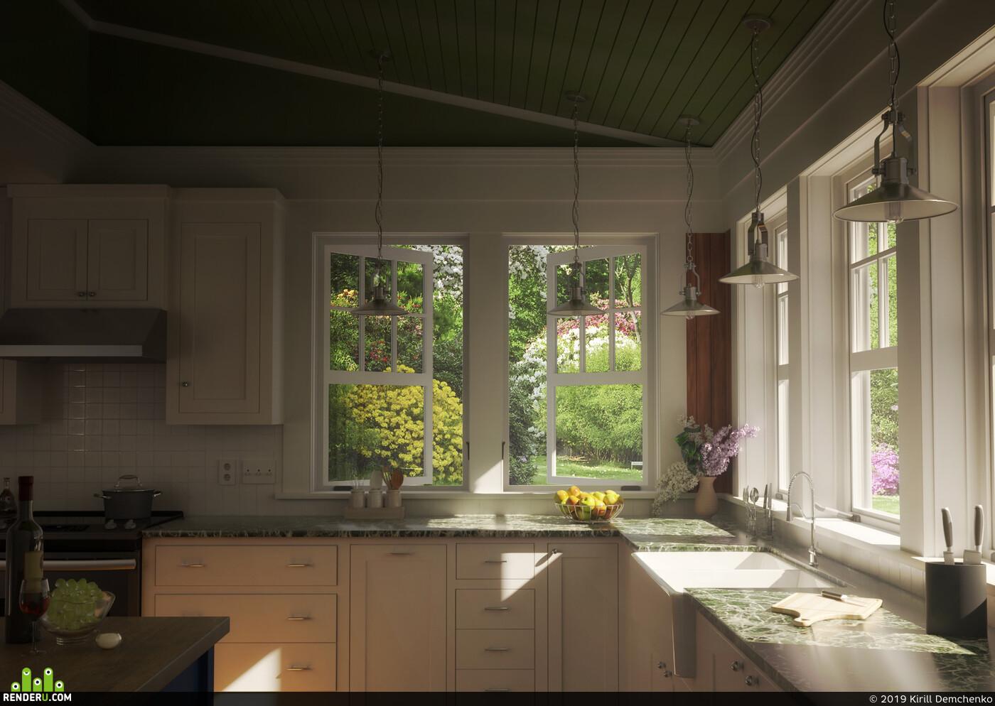 кухня, интерьер, дизайн интерьера