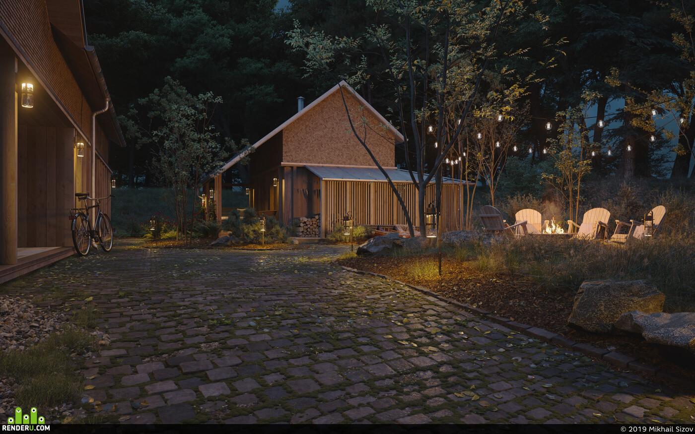 3D архитектура, лось лес болото осень холод заросли ручей река листья дерево лужи грязь, архитектура 3д архитектура визуализация архитектурная визуализация 3ds Max Corona Renderer Экстерьер, Визуализация экстерьеров, экстерьерная визуализация, дизайн экстерьера, Экстерьер, Ландшафтный дизайн, ландшафт, лес