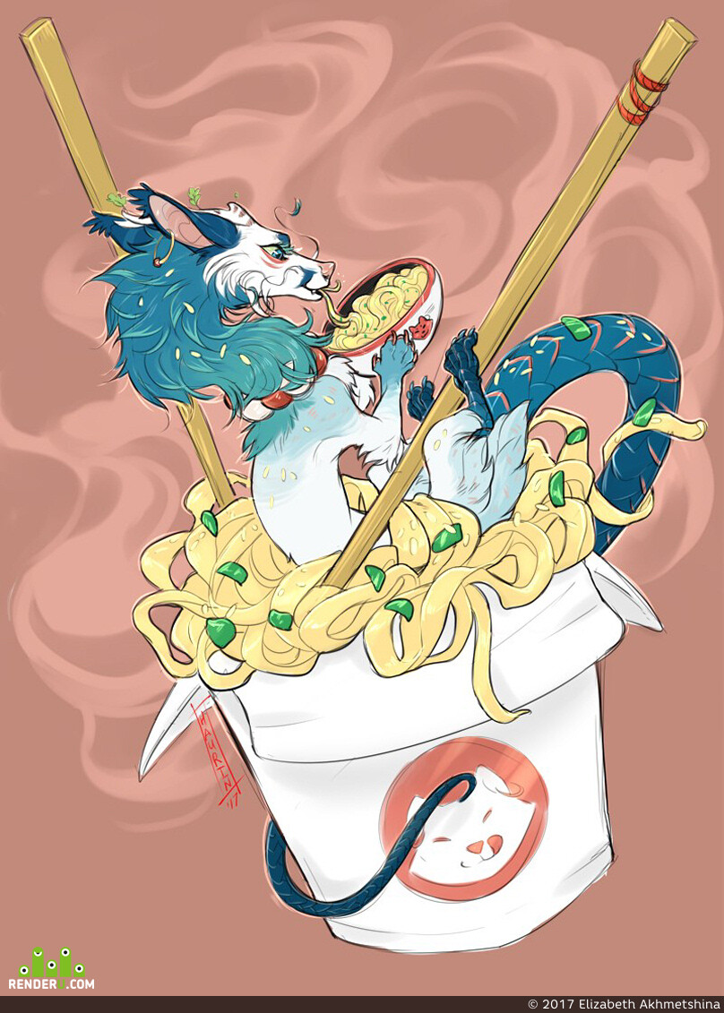 Картун (Cartoon), art, dragon