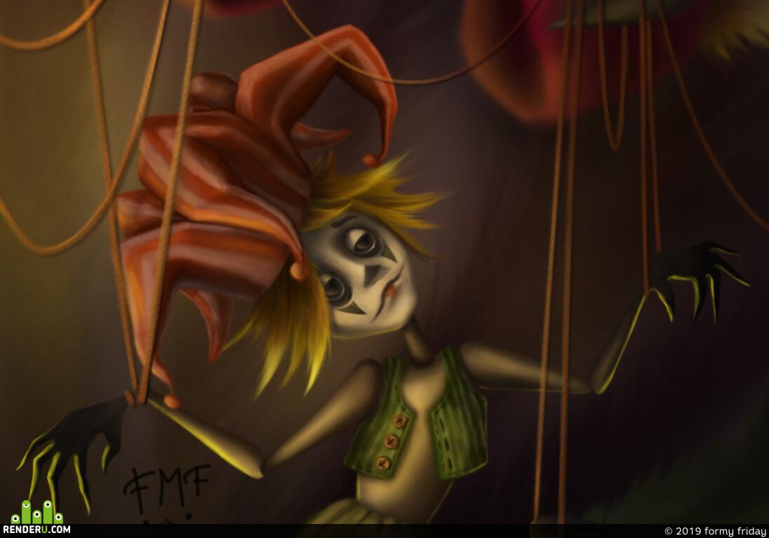 circus, puppet