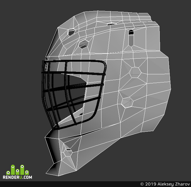 alexdouble, 3ds Max, 3Dsmax, Transport & Vehicles, hockey