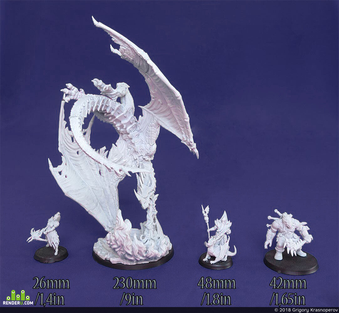 dragon, wyvern, miniature, Миниатюра, дракон, летающие драконы, ленегды сигнума, Legends of Signum