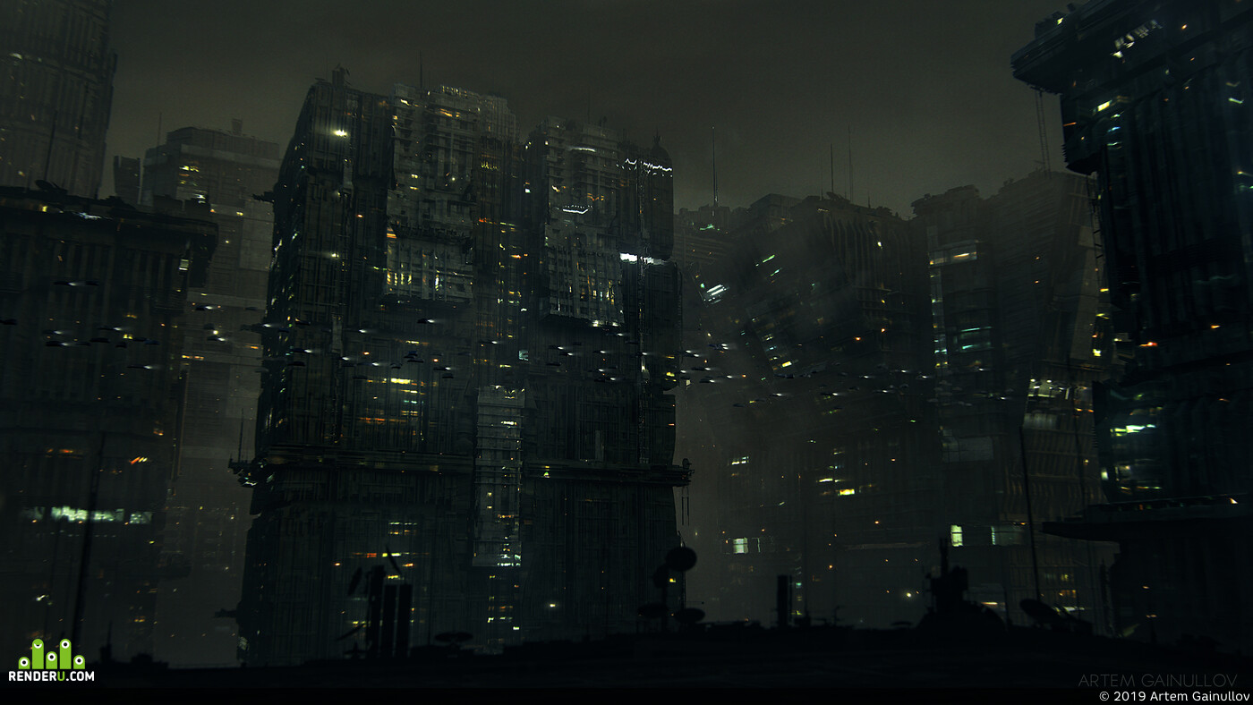 concept, night city, environment desigh