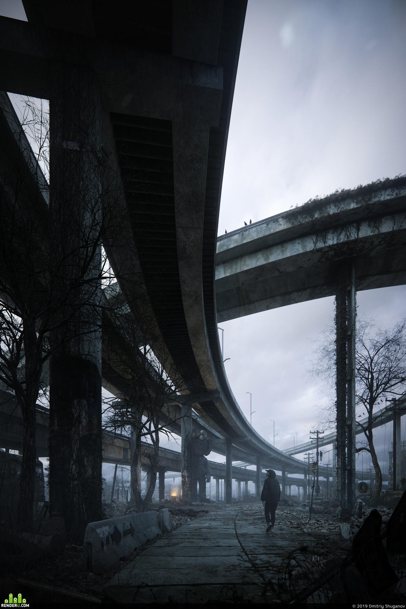 3Dsmax, digital3d, cgi, CG, 3d, coronarenderer, bridge, render, visualization, environment