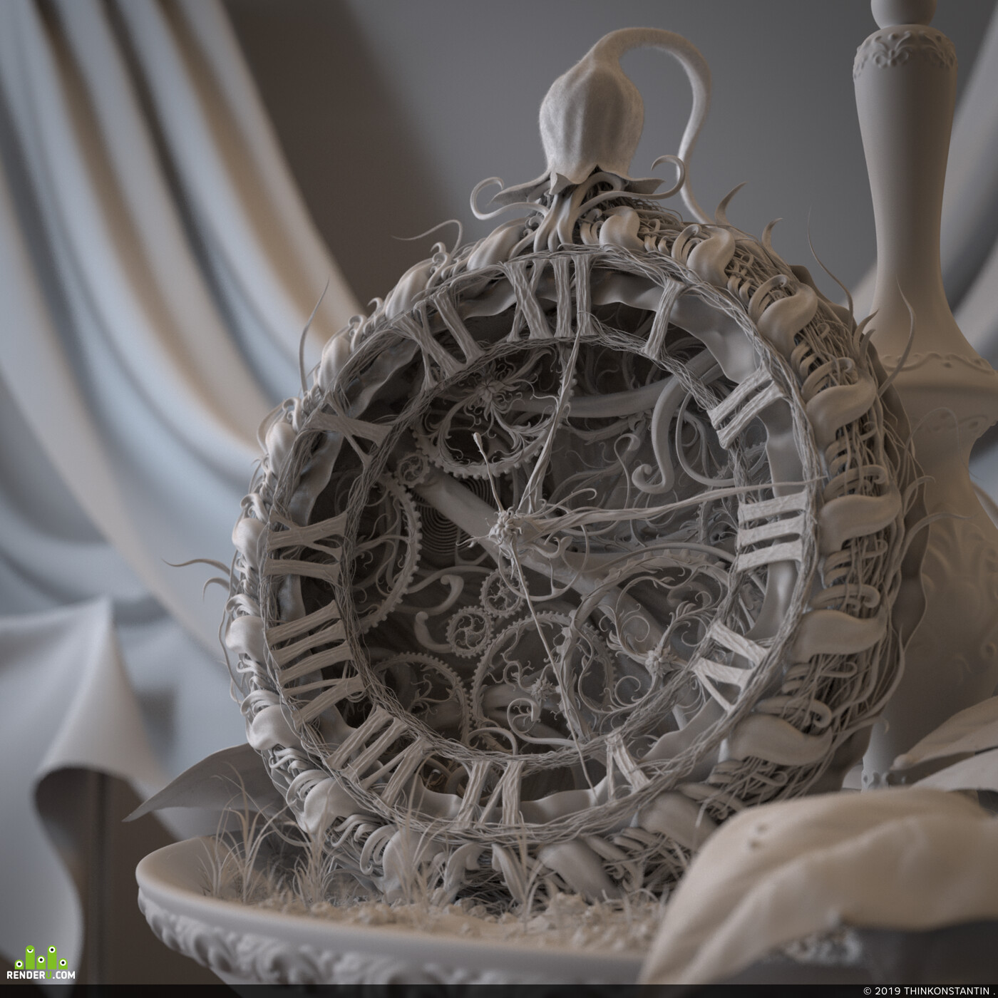 3d, ZBrush, ​Houdini, Houdini, Houdini 17.5, Arnold, arnold shading, arnoldrender, Progress Naturally, ornament