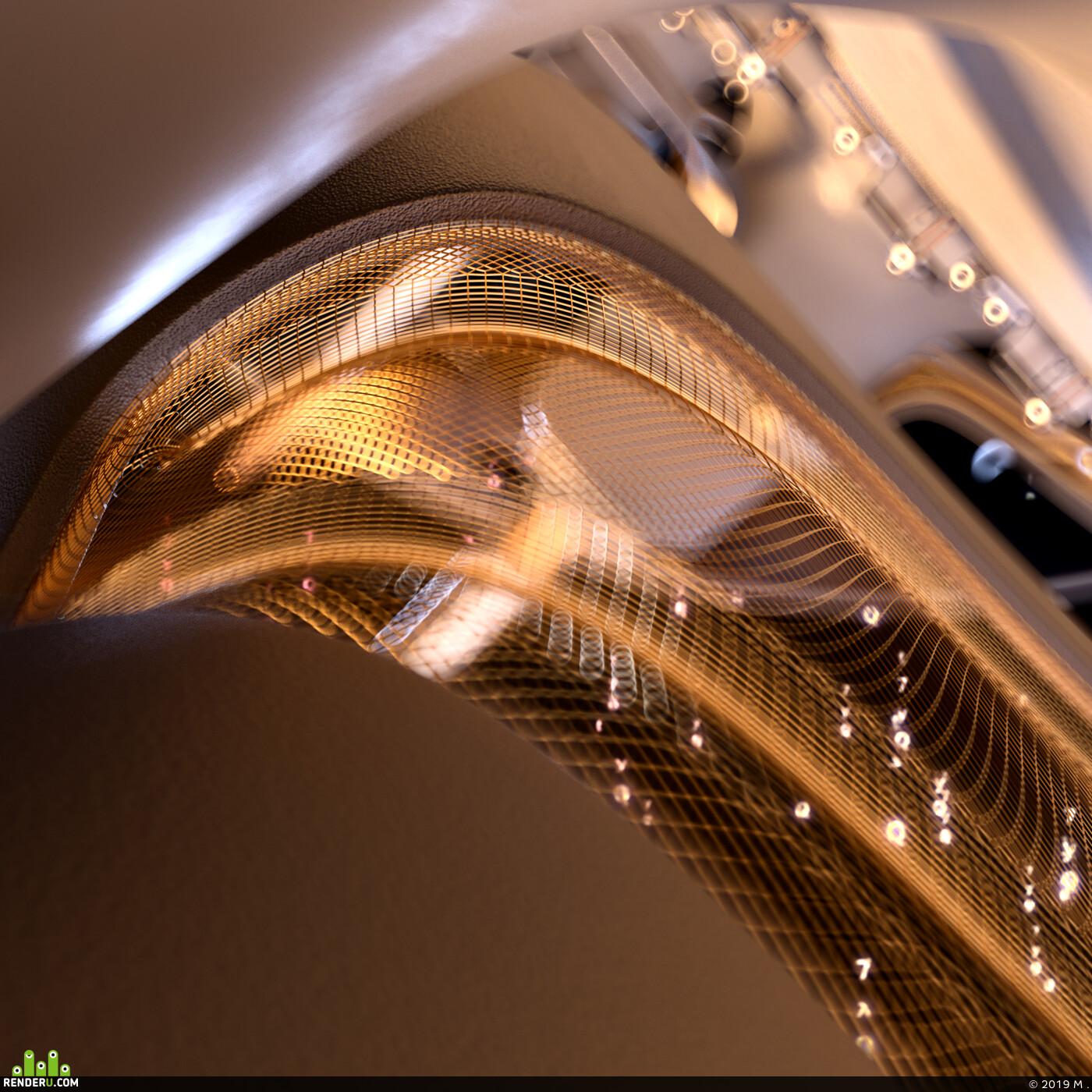 c4d, lighting, music, Science fiction